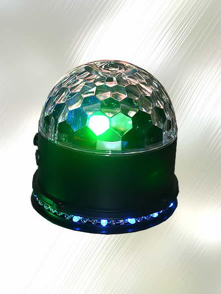 Luz Led RGB con Batería Recargable y Bola de Cristal para DJ marca Zebra