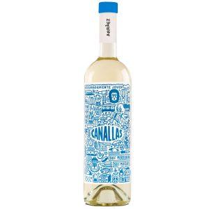 Botella de Vino Blanco marca Canallas