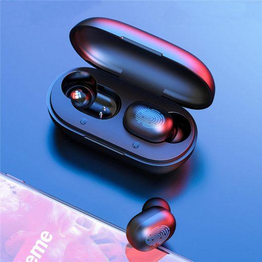 Audífonos Inalámbricos GT1 marca Haylou color Negro
