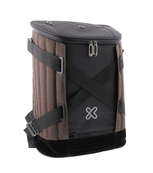 """Mochila para Laptop de hasta 15.6"""" KNB-900 marca Klip Xtreme color Café con Gris"""