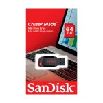 Memoria USB SanDisk Cruzer Blade 64GB Color Negro con Rojo