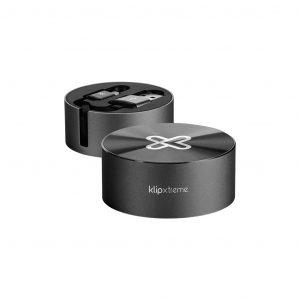 Cable Tipo C Retractil con Base marca Klip Xtreme color Negro