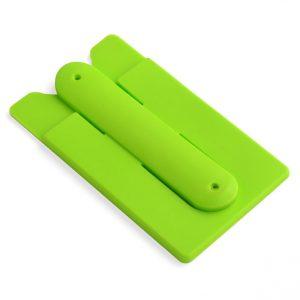 Soporte para Celular con Porta Tarjetas color Verde Claro