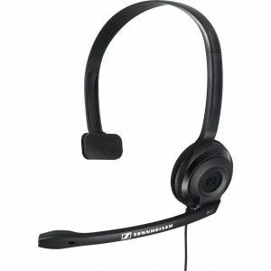 Audifono Monoaural con Microfono para Call Center marca Sennheiser PC-2 CHAT