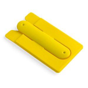Soporte para Celular con Porta Tarjetas color Amarillo