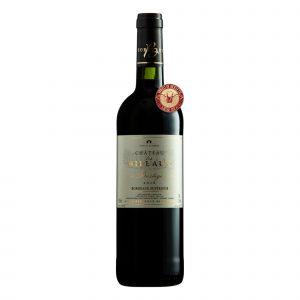 Botella de Vino Tinto Chateau Les Millaux Bordeaux Superiur Prestige - Merlot / Cabernet Franc - Francia -  Bordeaux