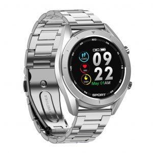 Reloj Inteligente DT-99 marca No. 1 con Pulsera Metálica color Plateado