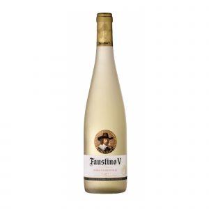 Botella de Vino Blanco Faustino V Viura - Chardonnay - España - Rioja