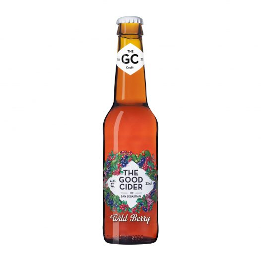 Botella de Sidra The Good Cider de Frutos del Bosque of San Sebastian 330 ml