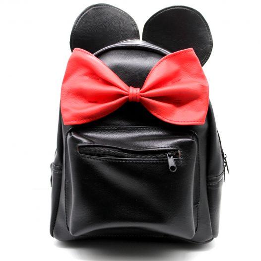 Mochila de Minnie Mouse color Negro con Rojo para Mujeres