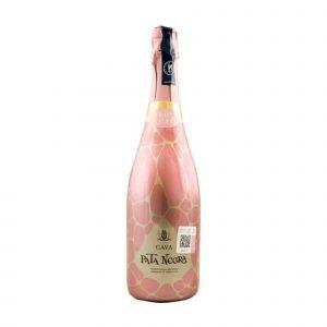 Botella de Vino Espumante Pata Negra Rosado Brut – Macabeo / Xare-lo / Parellada – España – Catalunyaa