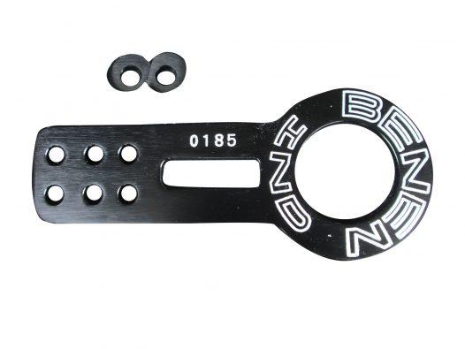 Gancho de Remolque Delantero de Aluminio - Color Negro - Marca Benen