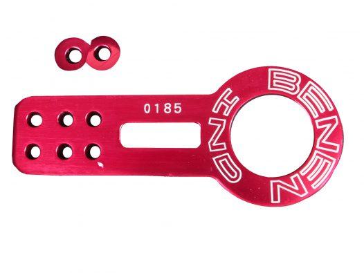 Gancho de Remolque Delantero de Aluminio - Color Rojo - Marca Benen