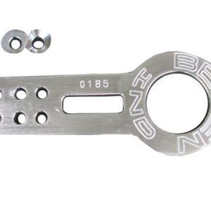 Gancho de Remolque Delantero de Aluminio - Color Plateado - Marca Benen