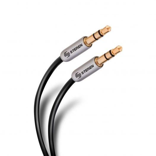 Cable Ultra Delgado Auxiliar 3.5mm a 3.5mm de 90 cm marca Steren