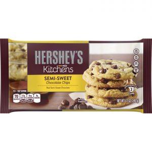 Paquete de 12 bolsas de Chispas de Chocolate Semi Dulce - Marca Hersheys - 12 oz.
