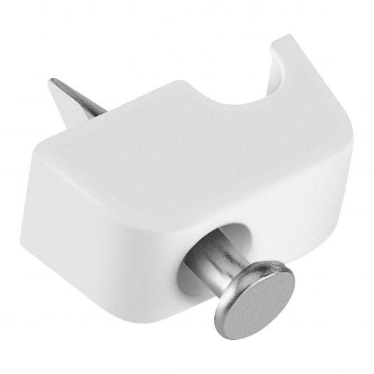 50 Grapas para Cable Telefónico de 2 Hilos color Blanco