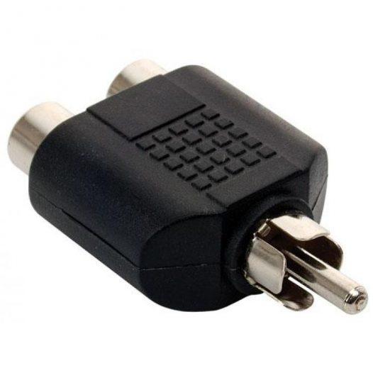 Adaptador de 2 jacks RCA a conector RCA