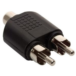 Adaptador de 2 conectores RCA a jack RCA