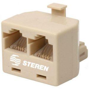 """Adaptador """"Y"""", 2 jack a 1 Conector de 4 contactos marca Steren"""
