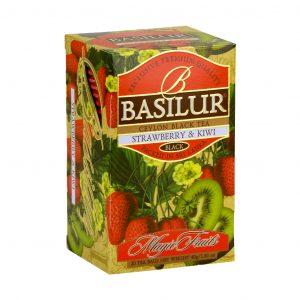 Caja de Té Negro sabor a Fresa con Kiwi marca Basilur – 20 Unidades
