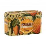 Caja de Metal de Té Negro con Sabor a Mango con Piña marca Basilur – 20 unidades