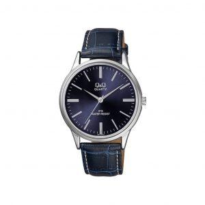 Reloj para Hombre de Pulsera de Cuero marca Q&Q color Azul