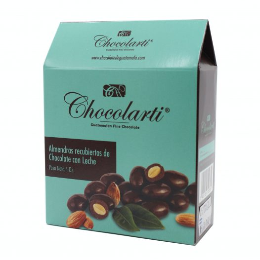Caja de Almendras Cubiertas de Chocolate - Marca Chocolarti - 4oz.