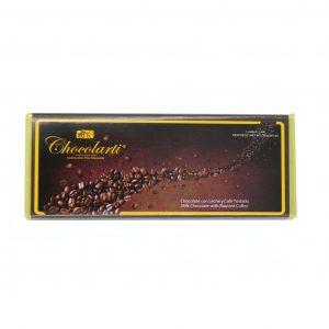 Barra de Chocolate con Leche y Café Tostado de 45gr marca Chocolarti