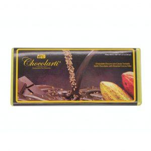 Barra de Chocolate Oscuro con Cacao Tostado de 90gr marca Chocolarti