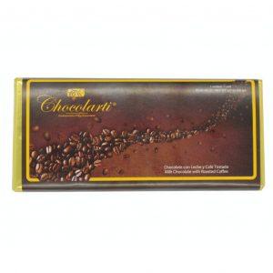 Barra de Chocolate con Leche y Café Tostado de 90gr marca Chocolarti