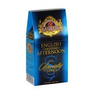 Caja de Té Negro English Afternoon marca Basilur – 100G Hojas Sueltas