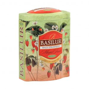 Caja Metalica de Té Infusión sabor a Fresa marca Basilur – 100g Hojas Sueltas