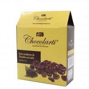 Caja de Pasas Cubiertas de Chocolate - Marca Chocolarti - 4oz.