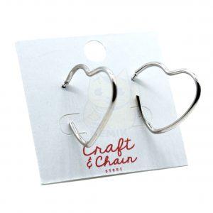 Argollas con forma de corazon mini
