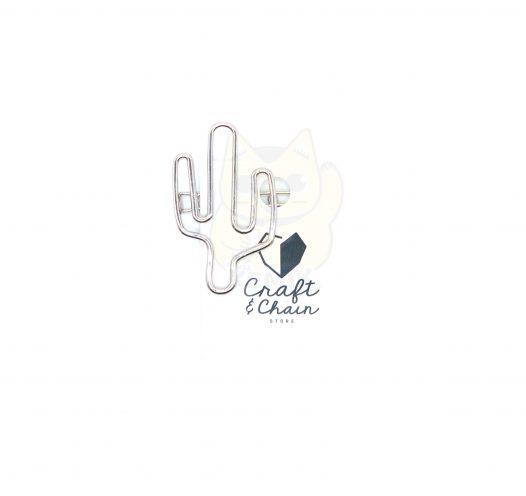 Gancho Cactus - Plateado