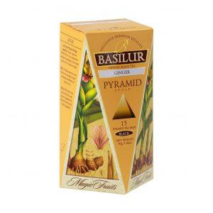 Caja de Té Negro sabor a Jengibre tipo Pirámide marca Basilur – 15 unidades