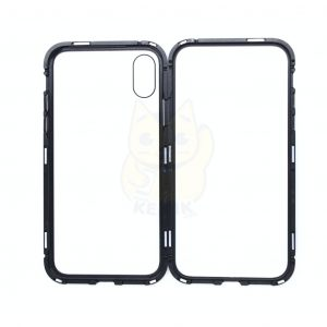 Case Magnético Transparente para iPhone XS color Negro