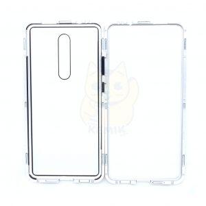 Case Magnético Transparente para Celular Xiaomi Mi 9T Orilla Plateada
