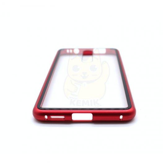 Case Magnético Transparente para Celular Xiaomi Mi 9T Orilla Roja