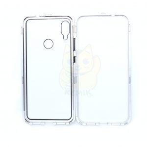 Case Magnético Transparente para Celular Redmi Note 7 Orilla Plateada