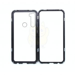 Case Magnético Transparente para Celular Xiaomi Redmi Note 8 Orilla Negra