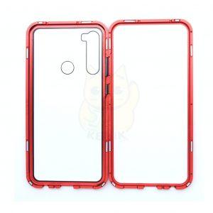 Case Magnético Transparente para Celular Xiaomi Redmi Note 8 Orilla Roja