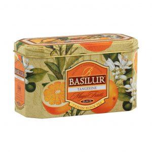 Caja de Metal de Té Negro sabor a Mandarina marca Basilur – 20 unidades