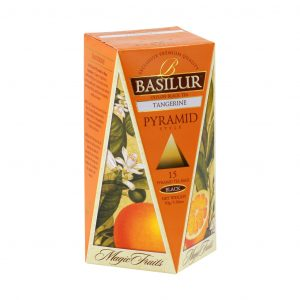 Caja de Té sabor a Mandarina tipo Pirámide marca Basilur – 15 unidades