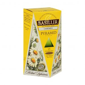 Caja de Té sabor a Manzanilla tipo Pirámide marca Basilur – 15 unidades