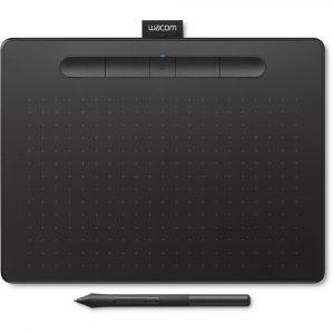 Tableta Digitalizadora Bluetooth Wacom Intuos Mediana Color Negro con Lápiz