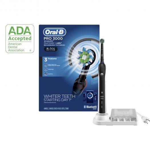 Cepillo de Dientes Eléctrico Bluetooth PRO 3000 Black Edition marca Oral-B