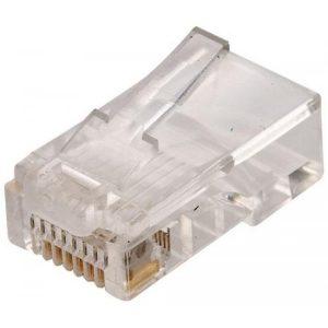 Conector Telefónico modular RJ45 de 8 contactos para cable redondo marca Steren