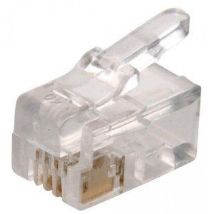 Conector Telefónico modular RJ9 de 4 contactos marca Steren